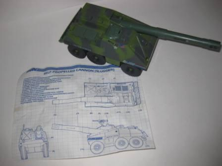 Slugger (1984) Self Propelled Cannon w/ Inst - G.I. Joe